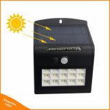 4 modes de travail Mur du capteur de mouvement de lumière solaire 15 LED témoin de sécurité extérieure de jardin