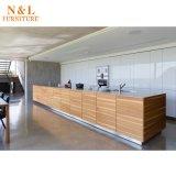 木の家具の現代メラミン食器棚