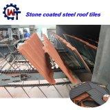 Leve em alumínio revestido a pedra de telhas de zinco em Kerala