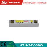 alimentazione elettrica di 24V 1.5A LED con le Htn-Serie della Banca dei Regolamenti Internazionali di RoHS del Ce