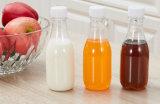 Botellas plásticas vacías disponibles en botellas orgánicas del jugo de la dimensión de una variable cuadrada francesa y de la dimensión de una variable redonda