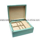 A fábrica fêz a vintage a caixa de indicador manchada caixa de empacotamento do pendente da jóia de madeira caixa de jóia de madeira