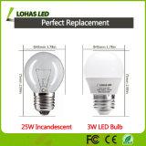 Ce RoHS Approbation E26 E27 G14 Ampoule LED 3 W