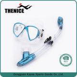 Silicone preta Anti-Leak Piscina de vidro temperado seca cheia máscara de mergulho snorkel