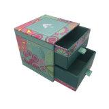 Het hete het Stempelen Verpakkende Vakje van de Gift van de Juwelen van het Document van het Karton met Lade