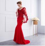 Matriz 2018 da cor-de-rosa formal dos vestidos da noiva dos vestidos de noite vermelhos Z7011 do xaile do laço