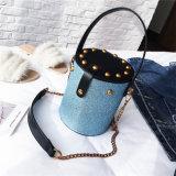Новейшие Sequin Messenger цепь плечо леди небольшой мешок PU женщин дамской сумочке
