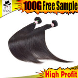 Cabelo longo Growing do Virgin naturalmente, imagens longas do cabelo
