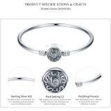 Uthentic 100% Luxuxschmucksache-klassisches Silber S des Sterlingsilber-925 pflastern Weinlese-Schlange-Ketten-Armband u. Armband