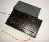Cassetta portabatterie di plastica dell'ABS 8*AA con il collegare di cavo
