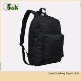 Мода Низкая MOQ полиэстер 600d взрослых все черные рюкзаки