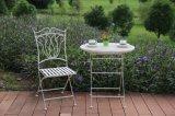 Venda populares Classic Wrough branco antigo pátio de ferro banco de jardim das traseiras