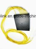 Gpon 원거리 통신에 의하여 착색되는 섬유 1X8 PLC 쪼개는 도구 시스템 플라스틱 상자