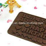 100% moulages de chocolat de numéro de silicones de catégorie comestible