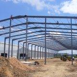 Structure légère en acier préfabriqués Atelier avec gouttière en aluminium