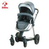 De Wandelwagen van de baby met Frame en Regelmatige Regelmatige Carrycot van de Zetel en en Carseat