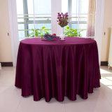 Полотно обедая таблицы крышки таблицы партии скатерти венчания ткани круглого стола оптового полиэфира белое