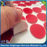 Tagliando intorno al doppio rosso della gomma piuma di Pet/PE ha parteggiato nastro adesivo