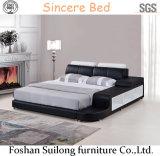 Кровать спальни кровати Genuin американского самомоднейшего типа кожаный