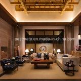 Le sofa en bois de salle de séjour d'entrée de sofa d'hôtel a placé en vente