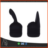 好色な性のおもちゃのシリコーン12の速度の強力なバイブレーターの細い棒ボディマッサージャーは女性のための3つの帽子の大人の性の製品を含んでいる