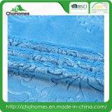 Coperta del poliestere della coperta del panno morbido della flanella della godronatura