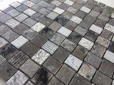 InteirorデザインのためのBasketweaveパターン大理石の石のモザイク