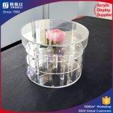 La venta al por mayor adorna el rectángulo redondo de acrílico Wedding de la flor de Rose