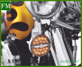 Свет сигнала поворота объектива Harley передний СИД плоский
