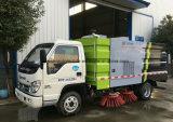 Petit camion de nettoyage de route de Foton camion de balayeuse de 3 mètres cubes
