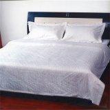 高級ホテルまたは病院白く純粋なカラー100%年の綿の寝具セット