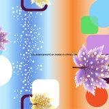 100%Polyester as folhas de plátano Pigment&Disperse imprimiram a tela para o jogo do fundamento