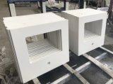 A vaidade de quartzo artificial branco Top & Balcão por Kitchen & Bath (YYS)