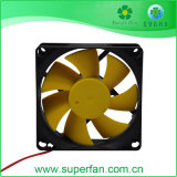 De rode Ventilator van de Drijvende kracht gelijkstroom, Gele Ventilator 80*80*25mm van de Drijvende kracht gelijkstroom