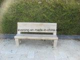 Garden&Parkのための背部が付いている花こう岩の石造りの灰色の椅子かベンチ