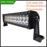 Pouce automatique 72W d'Emark 12 de barre d'éclairage LED conduisant le camion tous terrains 12V 24V de bateau de véhicule de jeep de SUV