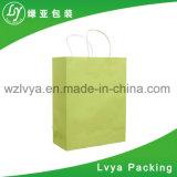 2017 sacs blancs de cadeau de papier d'emballage, sacs à provisions pour des vêtements Proromotion