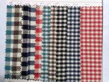 Cravate mince tissée teinte par filé de tissu de coton de plaid