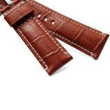 Широкий подлинной носки из натуральной кожи аллигатора ремешки наручных часов