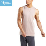 De ronde Armhole van de Daling van het Mouwloos onderhemd van de Vrije tijd van de Hals Hemden van de Gymnastiek van de Besnoeiing voor Mensen