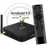 Pendoo X6 PRO Allwinner H6 Android Market 9.0 Caixa de TV com núcleo quádruplo, 4K Set Top Box com acesso WiFi 4GB, 32GB
