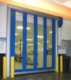 Haute vitesse en spirale rolling shutter glisser les portes en PVC pour l'usine alimentaire
