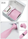 Commerce de gros Mens Handmade boîte cadeau Liens 100 % polyester Set (D14/15/17/18)