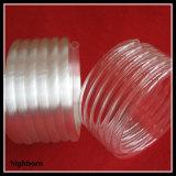 明確な螺線形の石英ガラスのガラス管