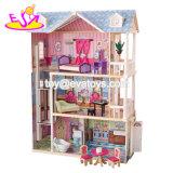 Cottage di legno di lusso W06A225 di sogno del giocattolo dei nuovi di stile 14 della mobilia bambini delle parti