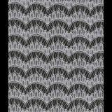 De zwarte Stof DIY 57 van het Huwelijk van het Gaas van de Bloem van de Golf van de Wimper Breedte ''