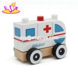 Мультфильм автомобиль скорой помощи автомобиль игрушки для детей, а также автомобиль скорой помощи деревянной игрушки, пропагандистской машины скорой помощи игрушка W05c012