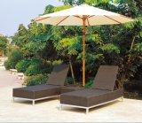プールの庭浜TgJw3031のためのサンルームのブラウンの屋外の柳細工のラウンジ