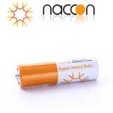 Superhochleistungskohlenstoff-Zink-Batterie der batterie-AA R6p 1.5V