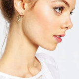 Gold-Tone scavare fuori gli orecchini su ordinazione di modo del foglio per la donna & la signora